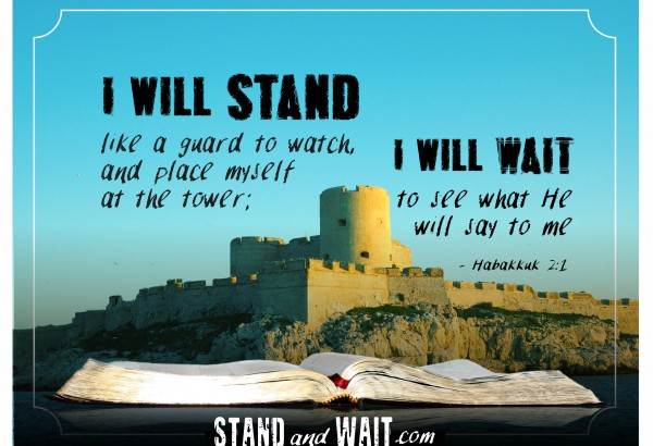 We are part of an unofficial worldwide network of God's watchmen (and women) sounding the alarm at the lateness of the hour. We stand armored up, ready to wait for the Lord, whether He call us to action, or He gathers us up. Resources, encouragement, and equipping: www.standandwait.com